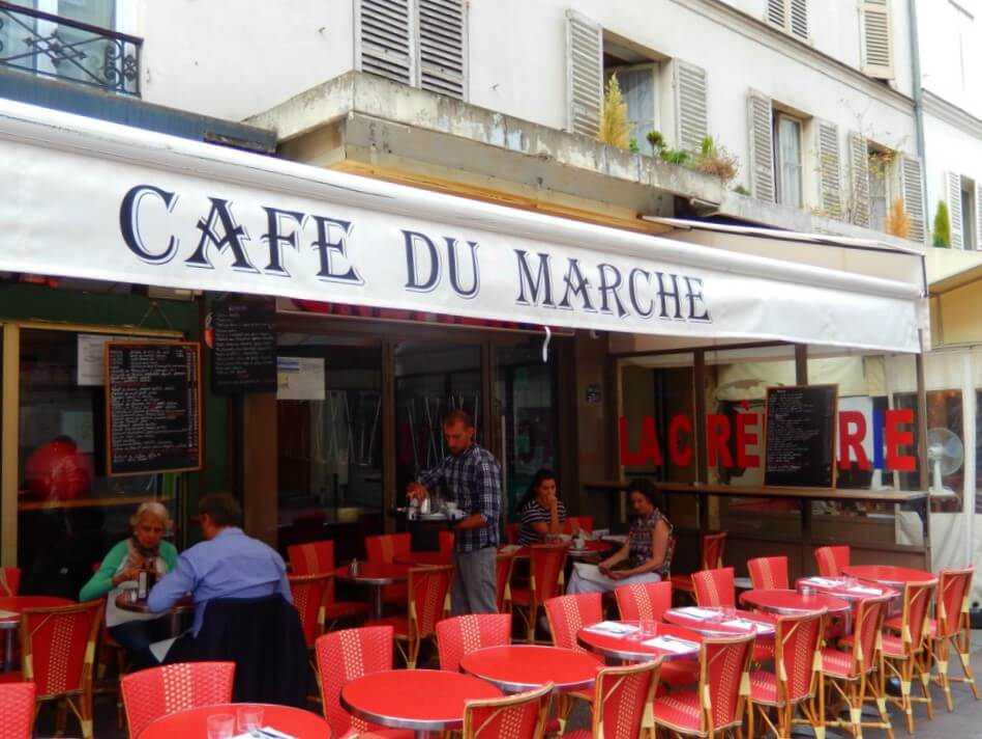 Cafe du Marche Paris - Straat in Parijs | Rue Cler